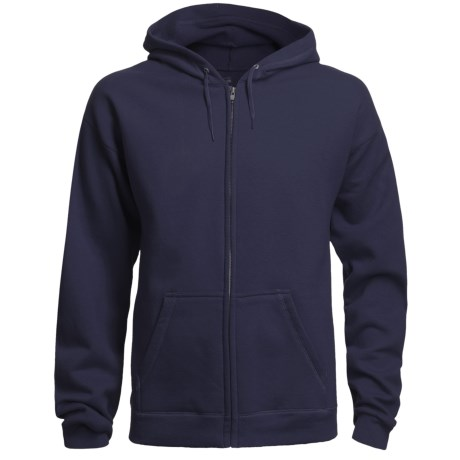 Hanes 8 oz. Fleece Hoodie Sweatshirt - Full Zip (For Men and Women)