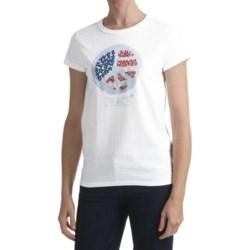 Hanes Printed T-Shirt - Short Sleeve (For Women)