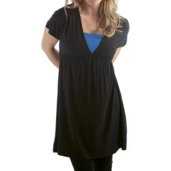 Bamboo Dreams® by Yala Bradshaw Dress - Gathered Empire Waist, Short Sleeve (For Women)