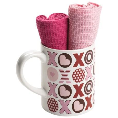 DII Valentine Gift Set - Mug and Dish Towels