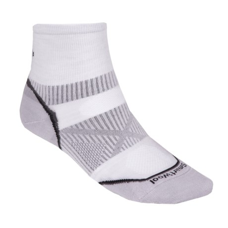 SmartWool PhD Running Mini Socks - Ultralight, Quarter Crew (For Men)
