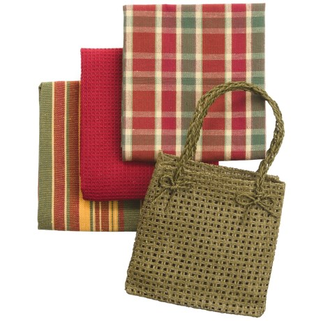 DII Gift Kitchen Towel Gift Bag - 3-Piece