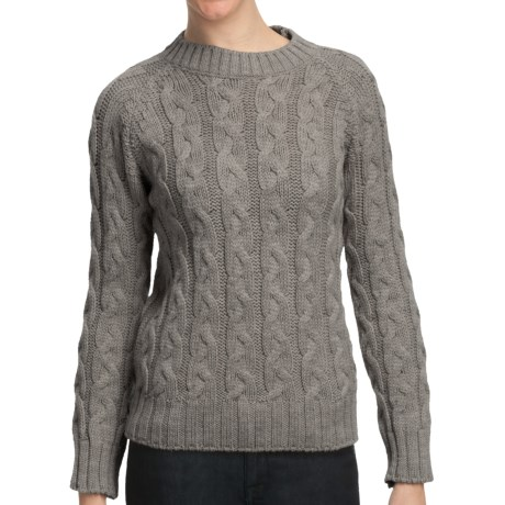 Peregrine by J.G. Glover Merino Wool Sweater - Cable Knit (For Women)
