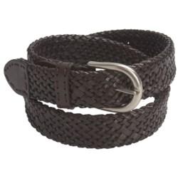 Paradise Blue Woven Leather Belt (For Men)