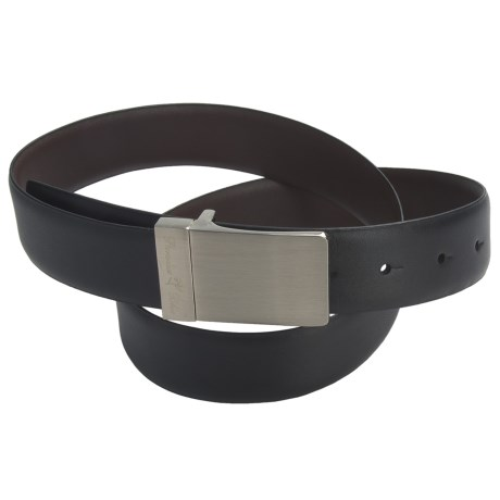 Paradise Blue Reversible Leather Belt (For Men)