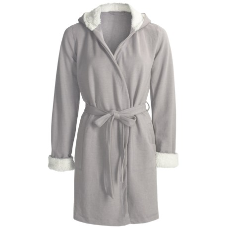 Fleece Robe with Sherpa Lining (For Women)