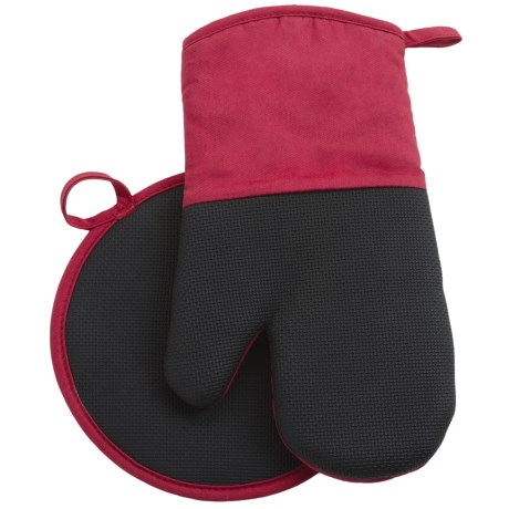 Gourmet Club Neoprene Pot Holder and Oven Mitt Set