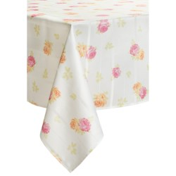 "Laura Ashley Stain-Resistant Tablecloth - 60x104"", Microfiber"
