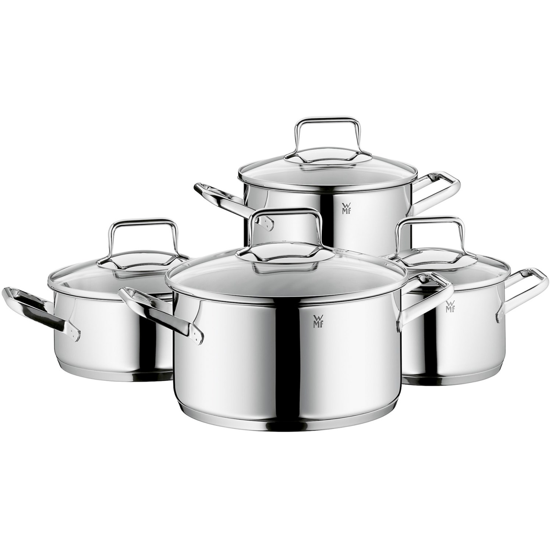 wmf trend 18 10 stainless steel cookware set 8 piece 5684j save 52. Black Bedroom Furniture Sets. Home Design Ideas