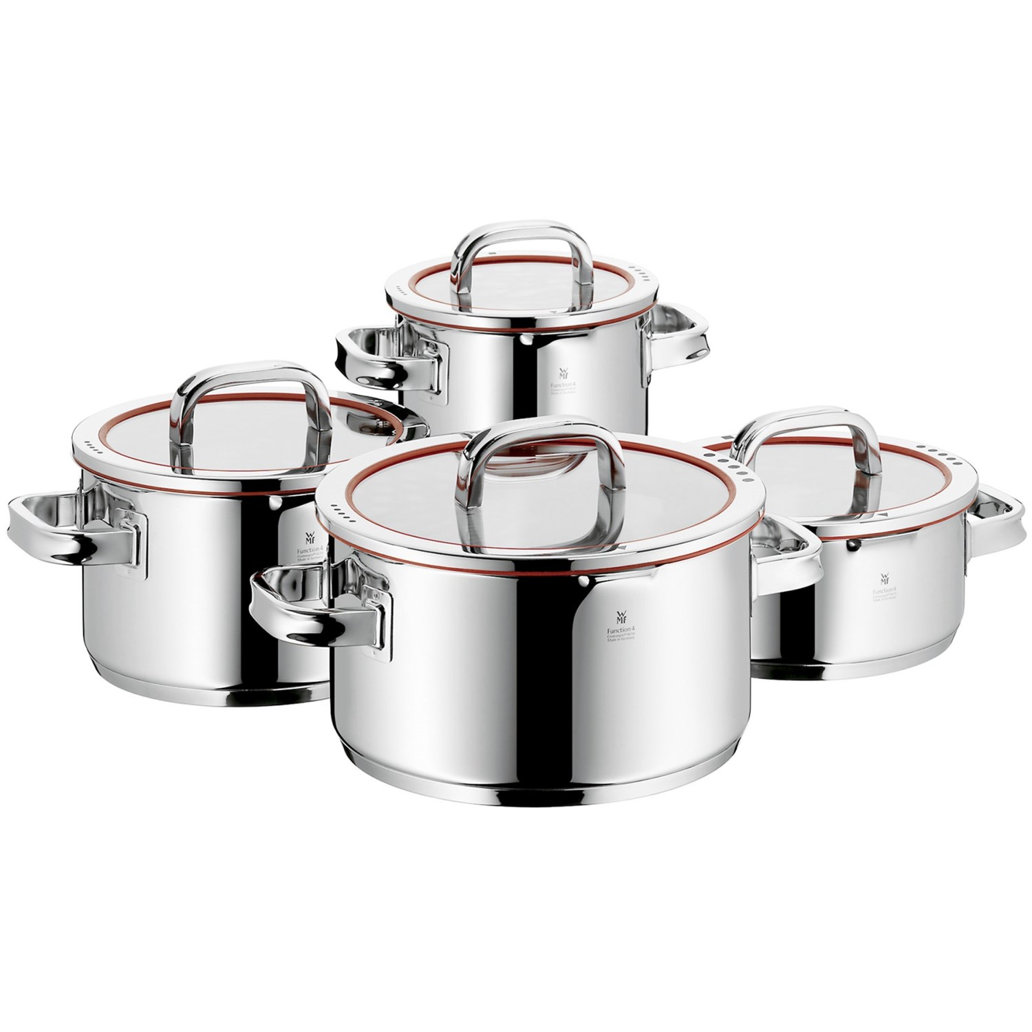wmf function 4 18 10 stainless steel cookware set 8 piece 5684k save 35. Black Bedroom Furniture Sets. Home Design Ideas