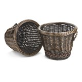 Better Homes & Gardens Willow Baskets with Handles - Round, Set of 2
