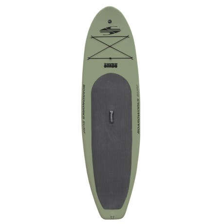 """Boardworks SHUBU Inflatable Stand-Up Paddle Board - 10'2"""", Wide"""