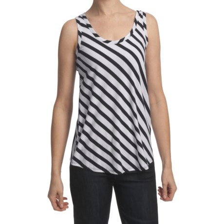 Lilla P Stripe Tank Top - Pima Cotton, Scoop Neck (For Women)