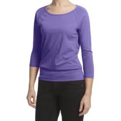 Lilla P Pima Jersey Bateau Shirt - 3/4 Raglan Sleeve (For Women)