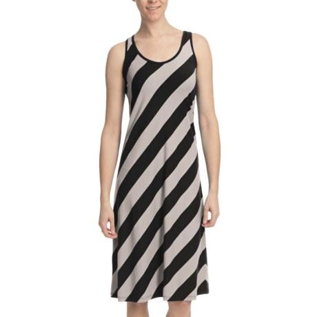 Lilla P Stretch Stripe Tank Dress - Stretch Pima-Modal, Racerback (For Women)
