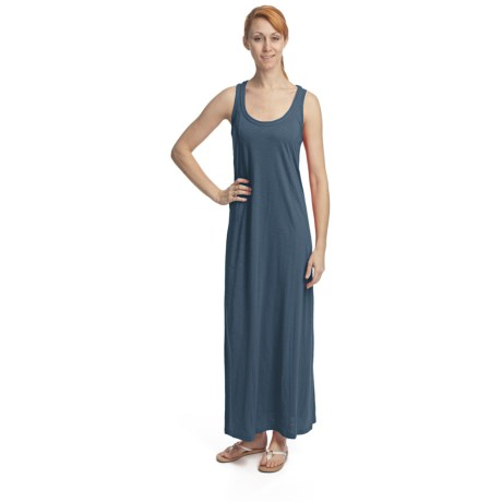 Lilla P Flame Maxi Dress - Pima Cotton-Modal, Racerback, Sleeveless (For Women)