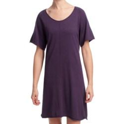 Lilla P Flutter Sleeve Sweater Dress - Short Sleeve (For Women)