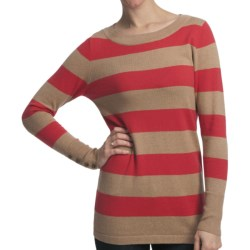 Lilla P Stripe Boat Neck Tunic Shirt - Cotton-Cashmere, Long Sleeve (For Women)
