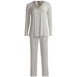 Midnight by Carole Hochman Supersoft Pajamas - Long Sleeve (For Women)
