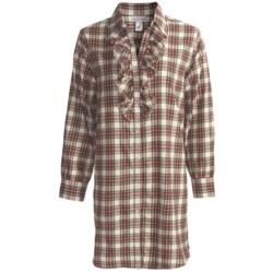 Soft Surroundings Fireside Nightshirt - Flannel, Long Sleeve (For Women)