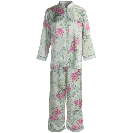 Soft Surroundings Geisha Pajamas - Mandarin Collar, Long Sleeve (For Women)