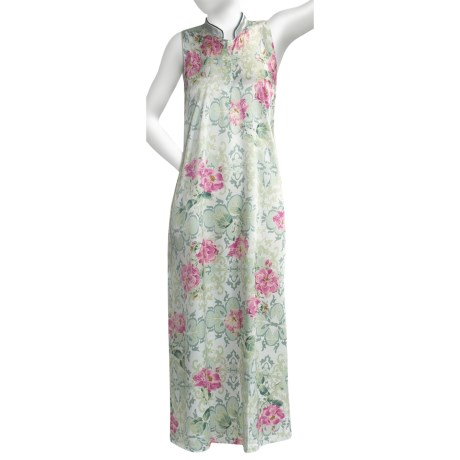 Soft Surrounding Geisha Nightgown - Mandarin Collar, Sleeveless (For Women)