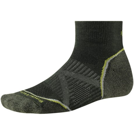 SmartWool PhD V2 Outdoor Light Mini Socks - Merino Wool, Quarter Crew (For Men and Women)