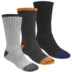 Catawba Dark Color Boot Socks - 3-Pack, Merino Wool Blend, Midweight, Crew (For Men)
