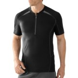 SmartWool Teller Tech T-Shirt - Merino Wool, Zip Neck, Short Sleeve (For Men)