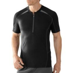 SmartWool Teller Tech T-Shirt - Merino Wool, Zip Neck, Short Sleeve (For Men)
