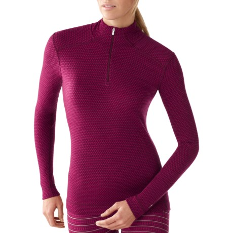 SmartWool NTS Midweight Pattern Base Layer Top - Merino Wool, Zip Neck, Long Sleeve (For Women)