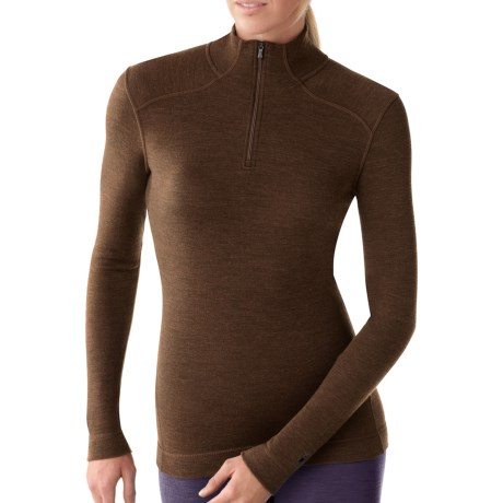 Smartwool NTS Zip Turtleneck Base Layer Top - Merino Wool, Midweight, Long Sleeve (For Women)