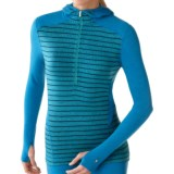 SmartWool NTS Midweight Pattern Base Layer Hoodie Shirt - Merino Wool, Zip Neck (For Women)