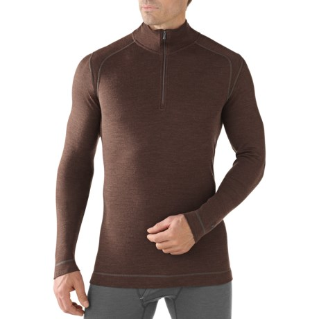 SmartWool NTS Midweight Base Layer Top - Merino Wool, Zip Neck, Long Sleeve (For Men)