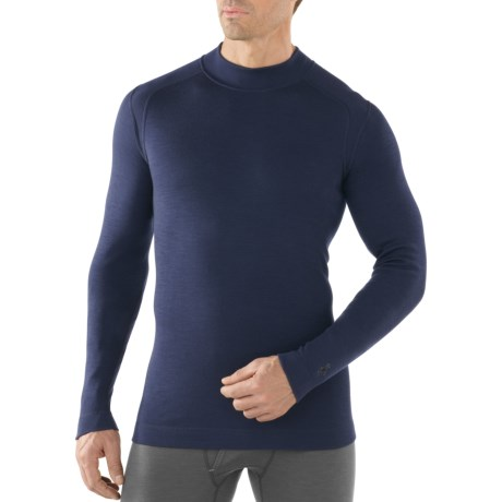 SmartWool NTS Midweight Mock Neck Base Layer Top - Merino Wool, Long Sleeve (For Men)