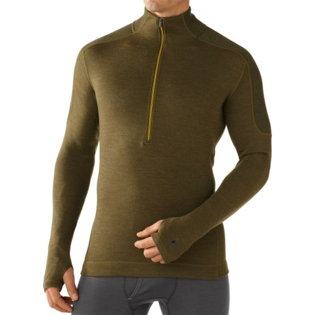 SmartWool NTS Funnel Zip Base Layer Top - Merino Wool, Midweight, Long Sleeve (For Men)