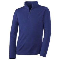 SmartWool NTS Midweight Zip Base Layer Top - Merino Wool, Zip Neck, Long Sleeve (For Kids)