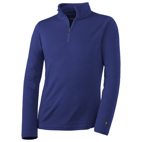 SmartWool NTS Midweight Zip Base Layer Top - Merino Wool, Zip Neck, Long Sleeve (For Kids)