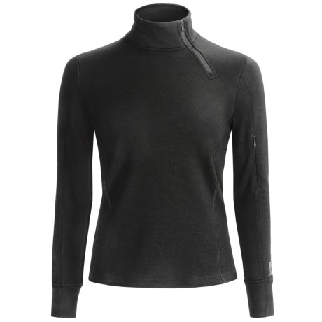 SmartWool MerinoMax Asymmetrical Base Layer Top - Merino Wool, Zip Neck, Long Sleeve (For Women)