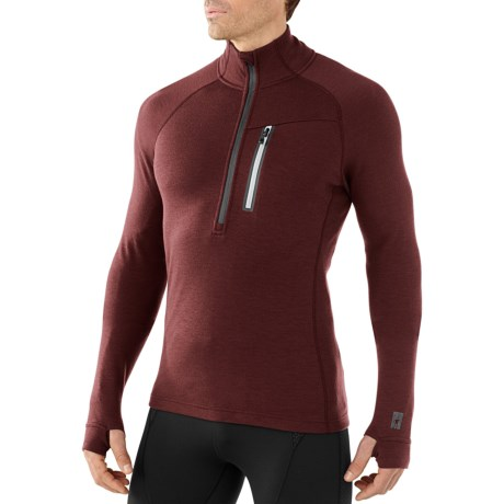 SmartWool Merinomax Base Midlayer Top - Merino Wool, Zip Neck, Long Sleeve (For Men)