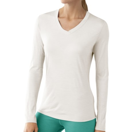 SmartWool NTS Microweight Base Layer Top - Merino Wool, V-Neck, Long Sleeve (For Women)