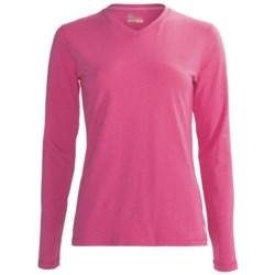 Tasc High-Performance V-Neck T-Shirt - UPF 50+, Long Sleeve (For Women)