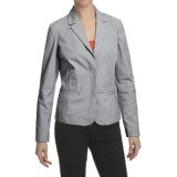 Pinstripe Blazer - Stretch Cotton, Unlined (For Women)