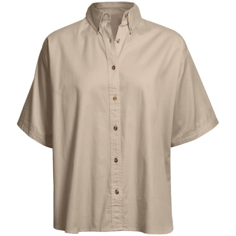 Twill Shirt - Short Sleeve (For Plus Size Women)
