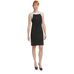 Ponte Knit Sheath - Sleeveless (For Women)