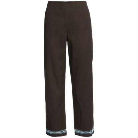 Beaded Crop Pants - Cotton (For Women)