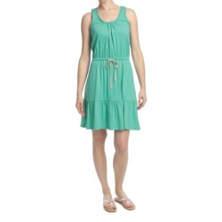 Jersey Knit Drawstring Waist Dress - Sleeveless (For Women)