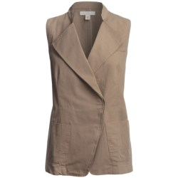 Cotton Faille Weave Vest (For Women)
