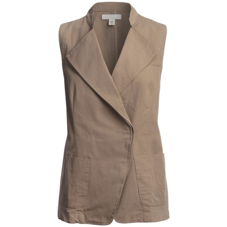 Cotton Faille Weave Vest (For Women)