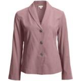 Pleated Back Jacket - TENCEL® Blend, Unlined (For Women)